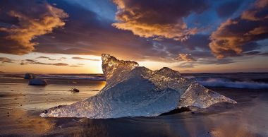 Beached iceblock, Iceland